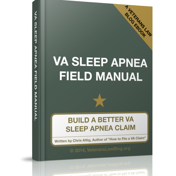 Put it to Rest! Your VA Sleep Apnea Claim.